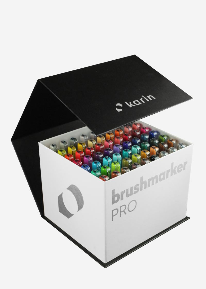 karin brushmarker  BrushmarkerPRO   MegaBox 60 colours + 3 blenders